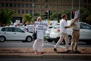 Free Karabus Demonstration, Cape Town 18 Feb 2013