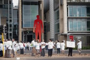 Free Karabus Demonstration. Cape Town 18 Feb 2013